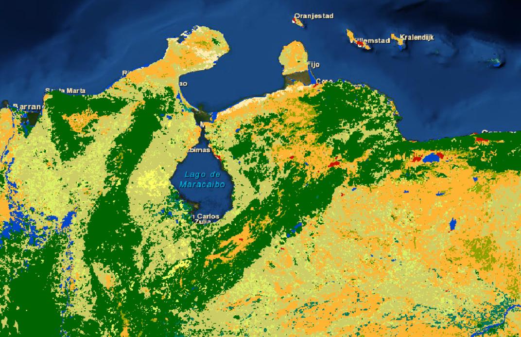 Niveles de Deforestación en la Cuenca del Lago de Maracaibo